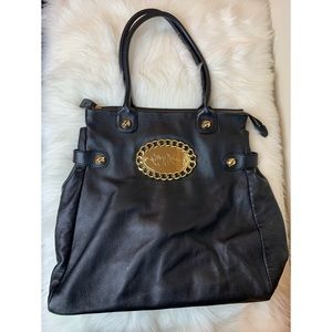 Betsey Johnson black large  purse